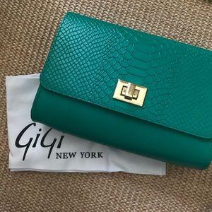 GiGi New York Kelly Green Crossbody Bag
